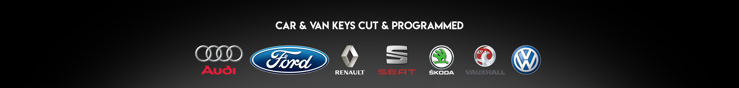 MB Lock & Key Auto Locksmiths can cut and program keys for Audio, Ford, Renault, Seat, Skoda, Vauxhall and Volkswagen van and car models.